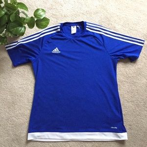 adidas | Blue athletic quick dry shirt size Lg